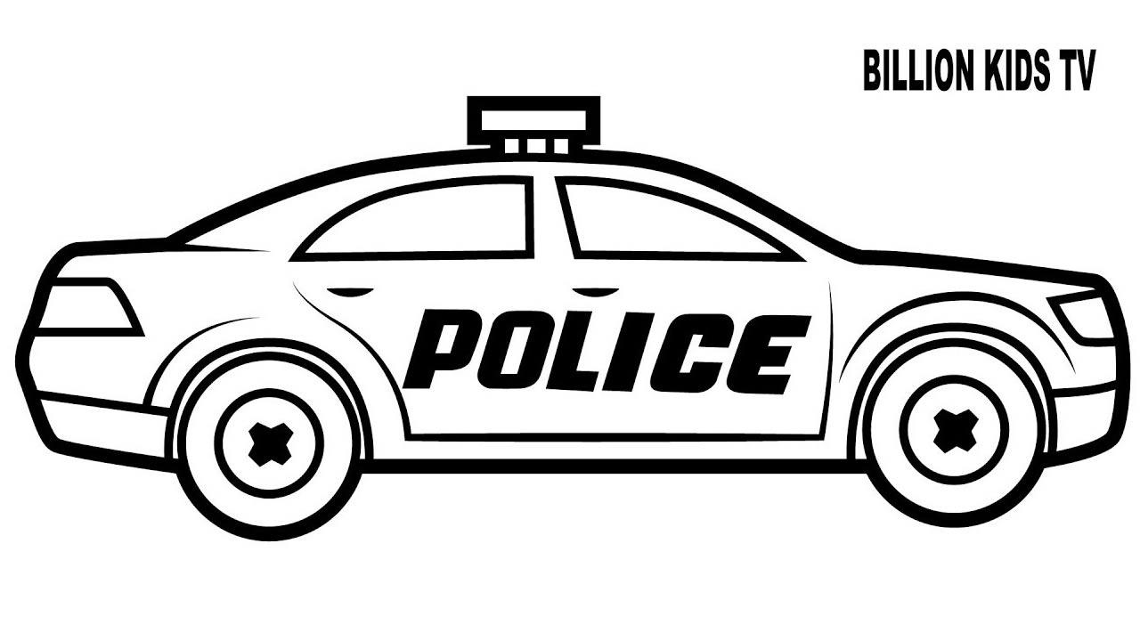 Imagens de carros de polícia para colorir