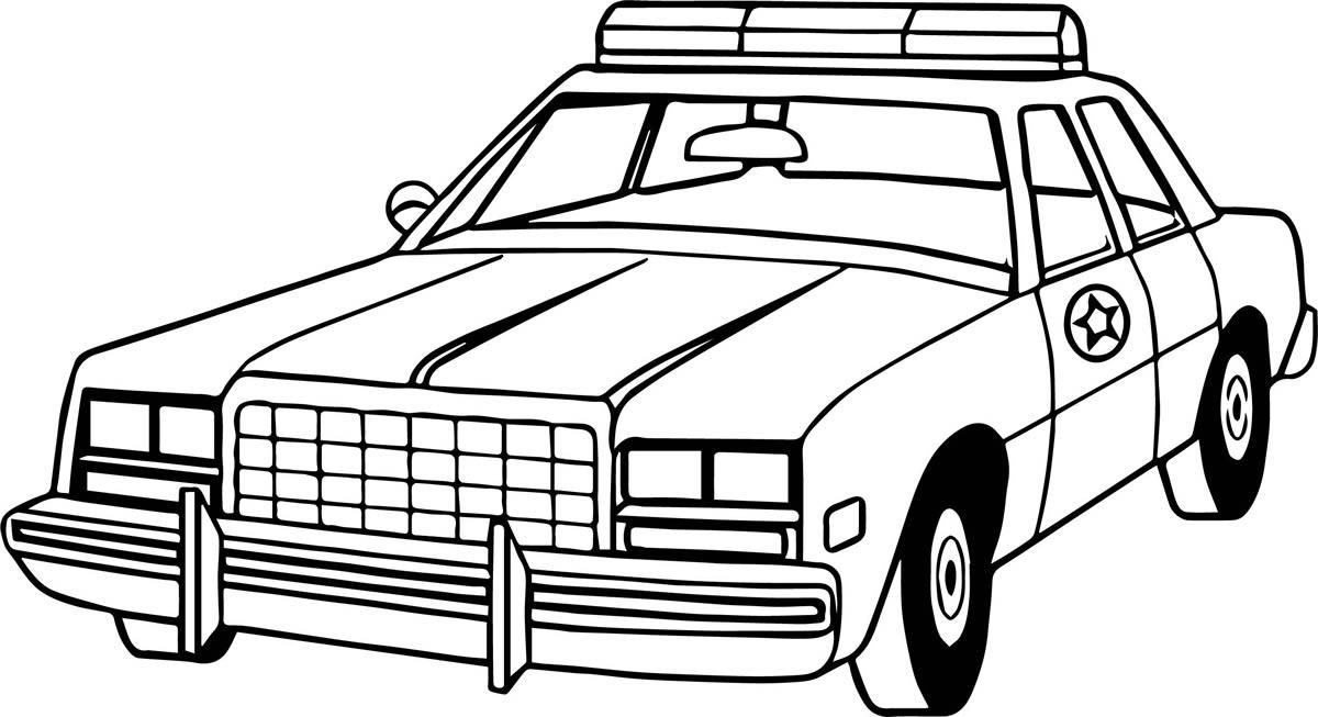 Desenhos de carros de polícia
