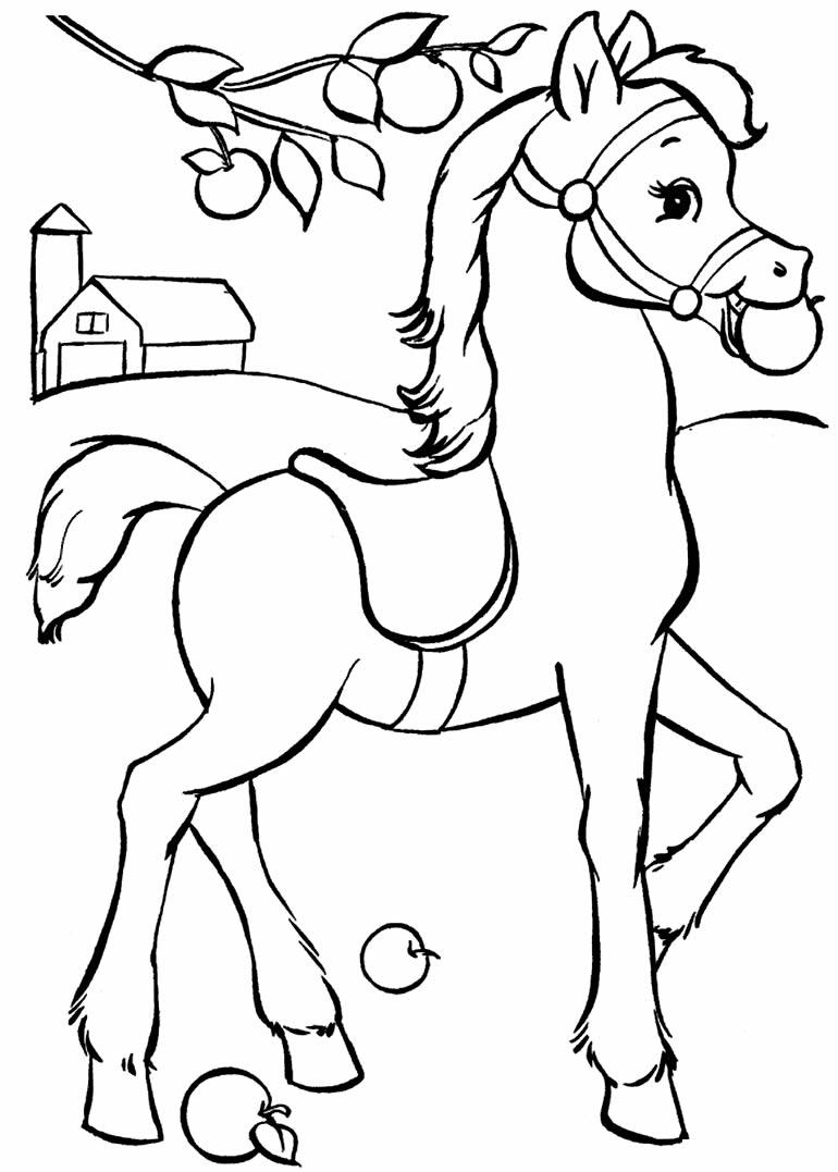 Imagem de cavalo para imprimir e colorir