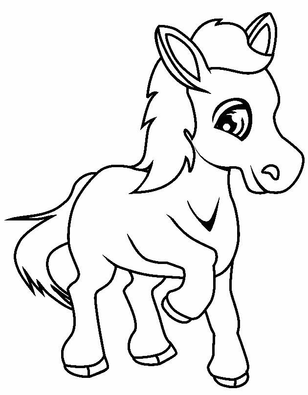 Imagem de cavalo para colorir