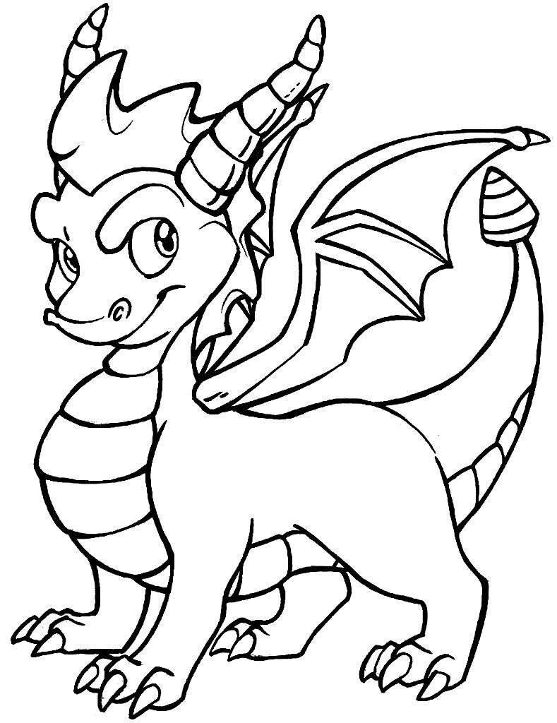 Molde de dragão para imprimir