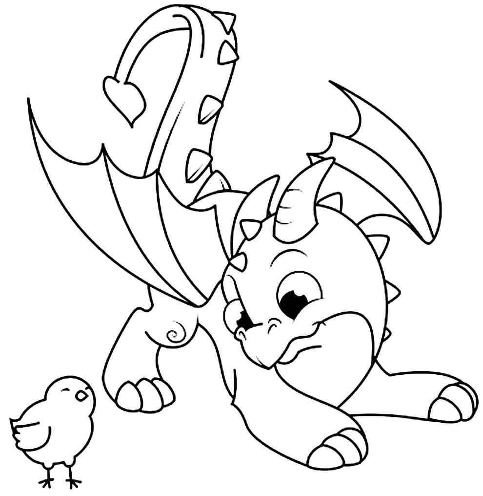 Imagem de dragão para colorir