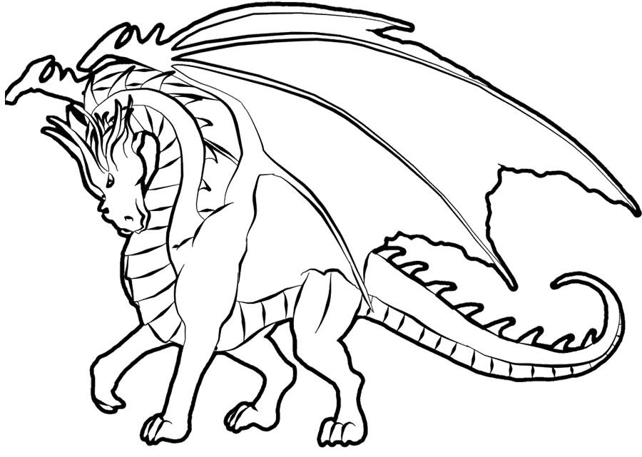 Imagem de dragão para pintar