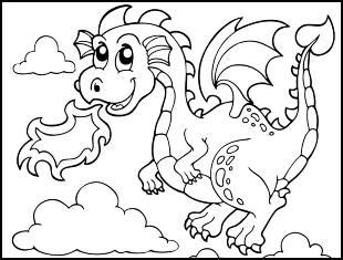 Desenhos para colorir de dragão