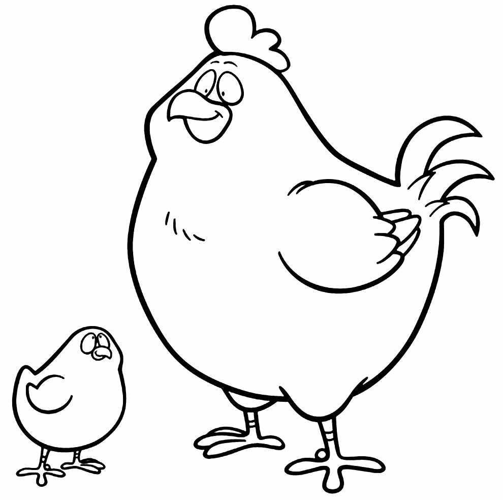 Desenho de galinha para pintar