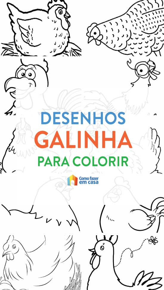 Desenhos de galinha para colorir