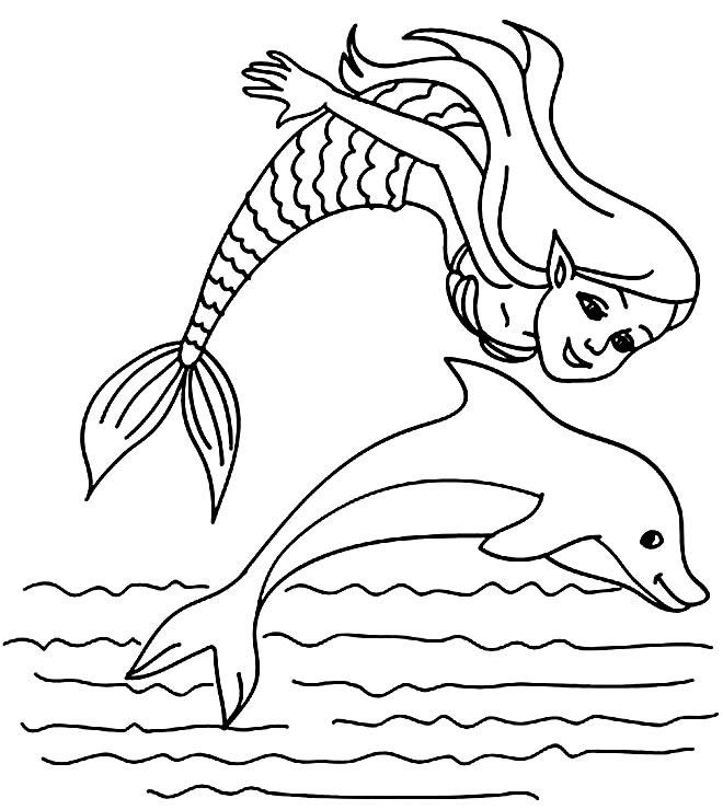 Imagem de golfinho para pintar