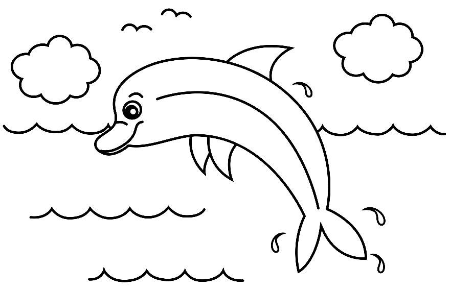 Desenho de golfinho para pintar