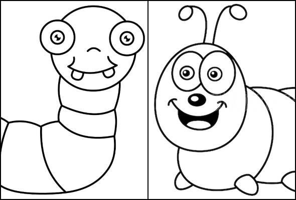 Desenhos de lagarta para colorir