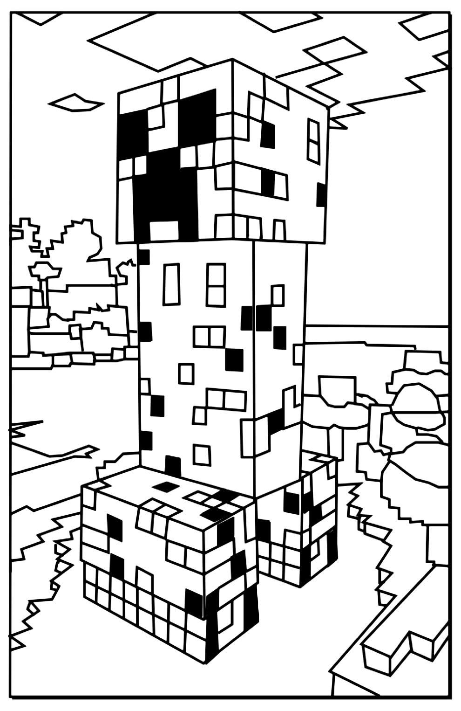 Minecraft para colorir e pintar