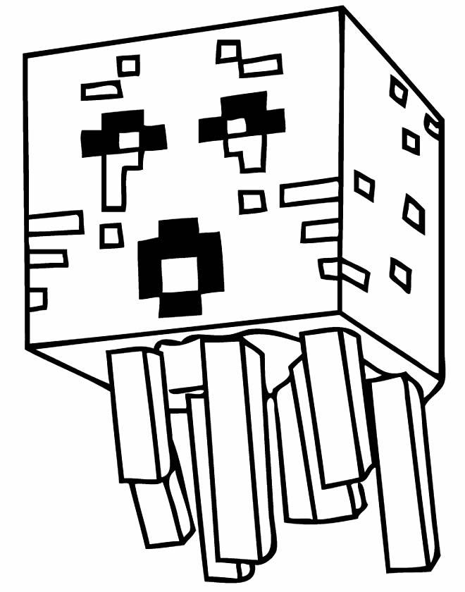 Molde de Minecraft para imprimir