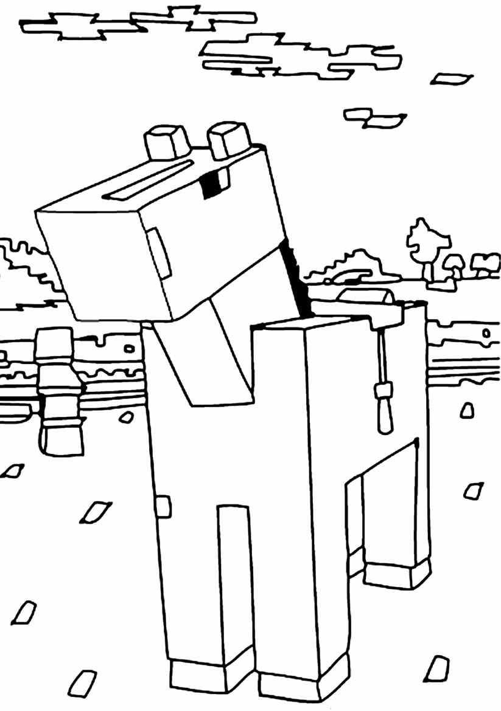 Desenho de Minecraft para pintar