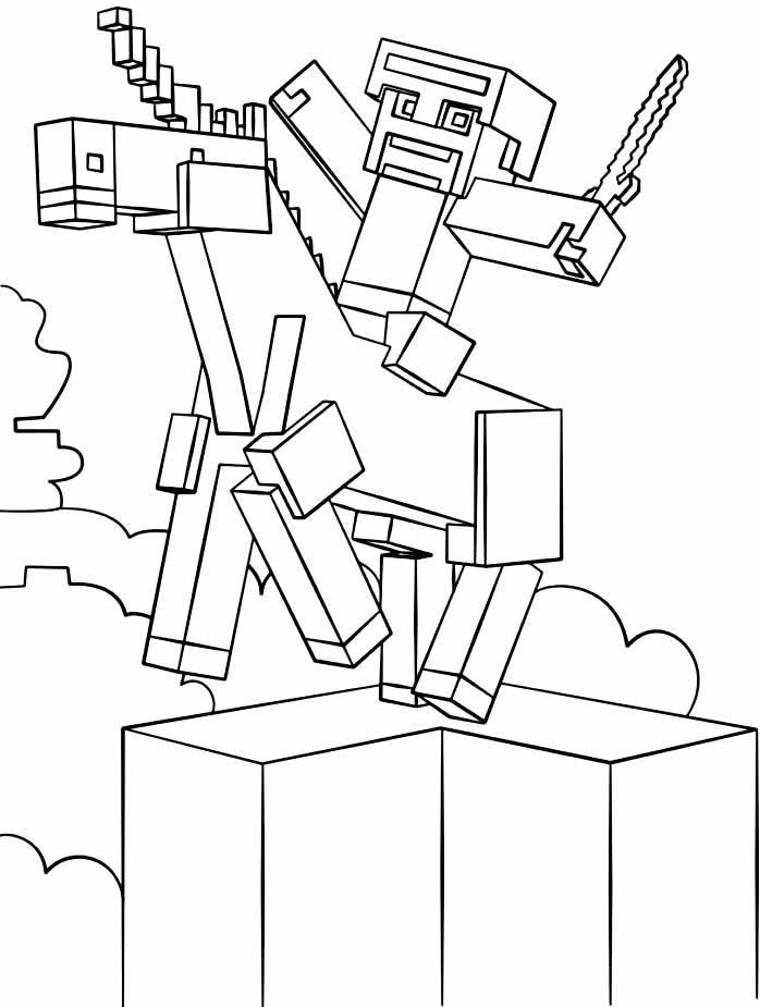 Desenho de Minecraft para colorir