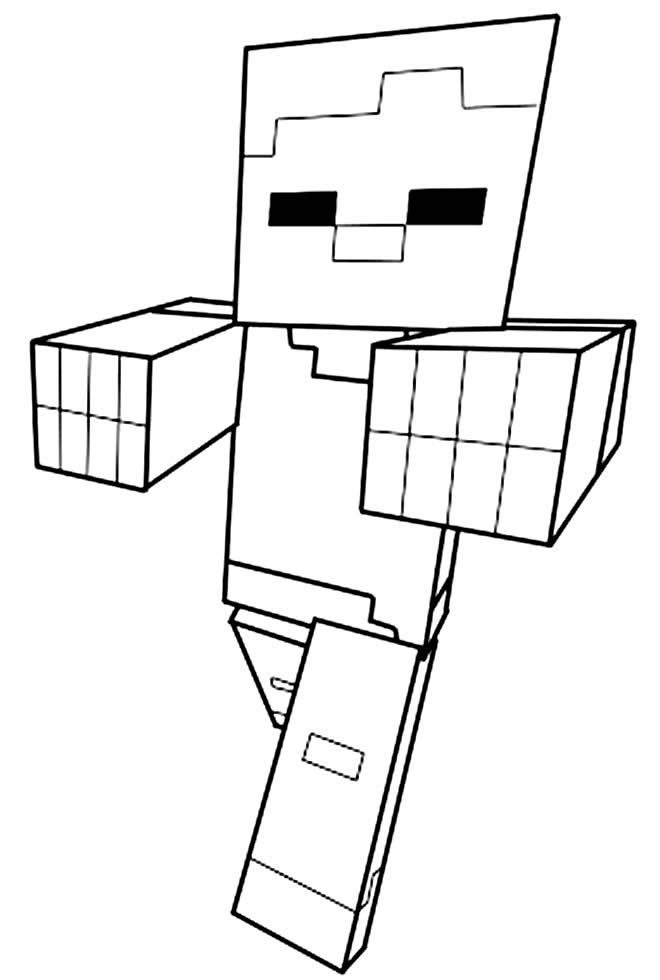 Imagem de Minecraft para colorir