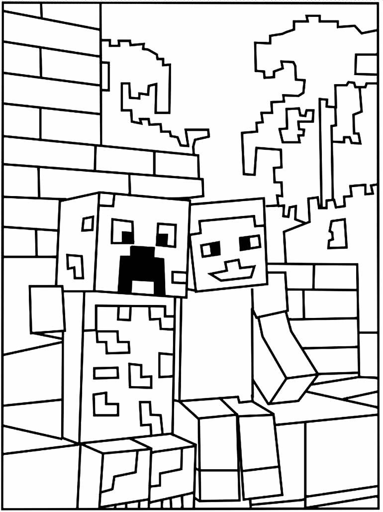 Imagem de Minecraft para pintar