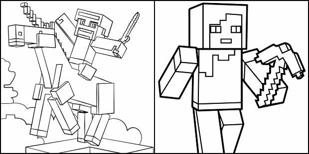 Desenhos de Minecraft para imprimir e colorir