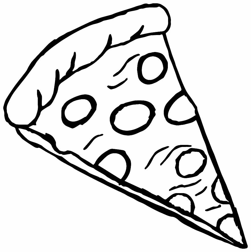 Imagem de pizza para colorir
