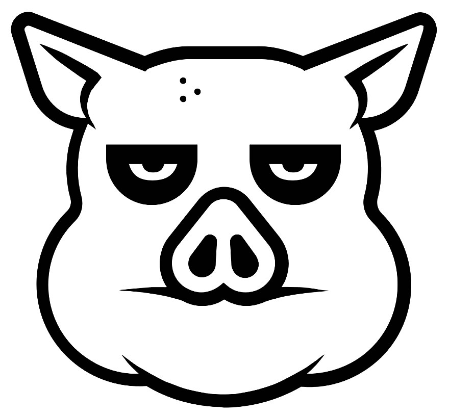 Desenho porquinho para pintar