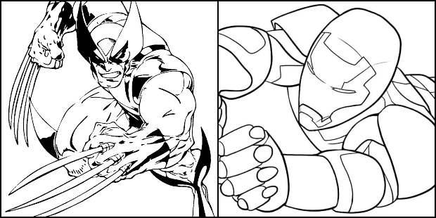 Desenhos de Super-Heróis para pintar