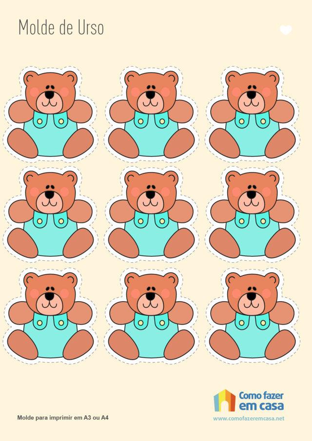 molde de urso
