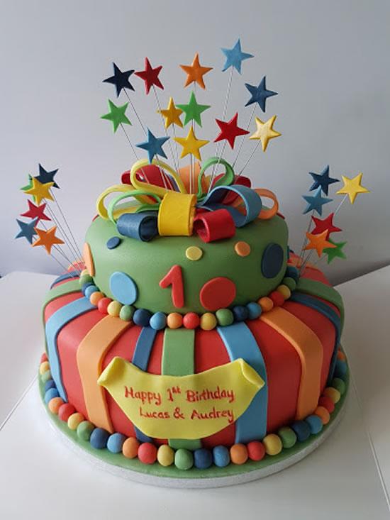 Inspiração para bolo de dois andares