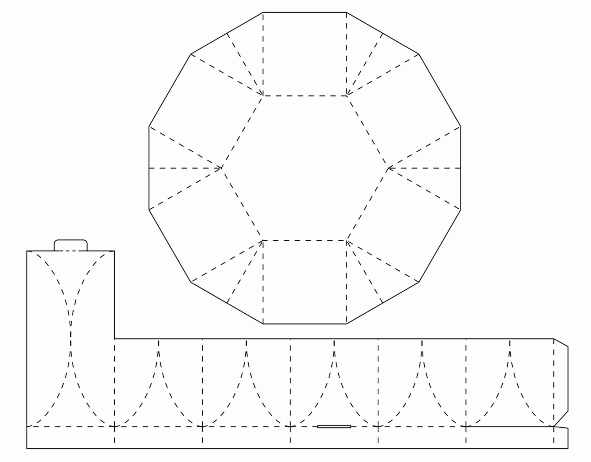 Molde para caixa lembrancinha de papel