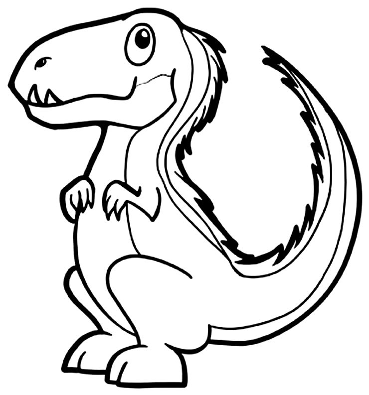 Desenho para colorir de T-Rex
