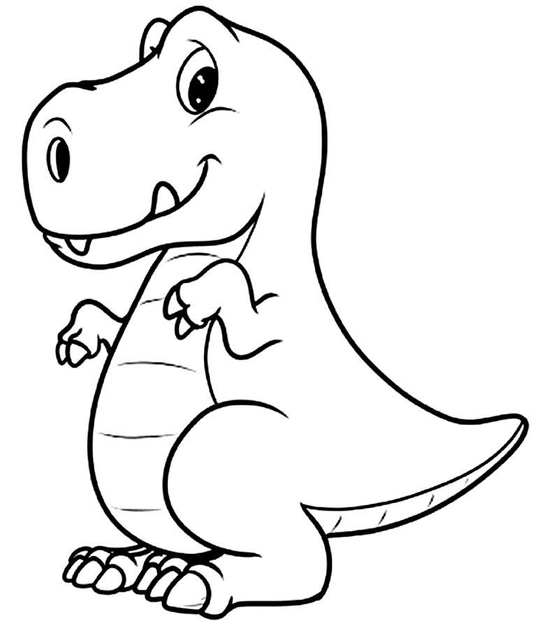 Desenho para pintar de T-Rex