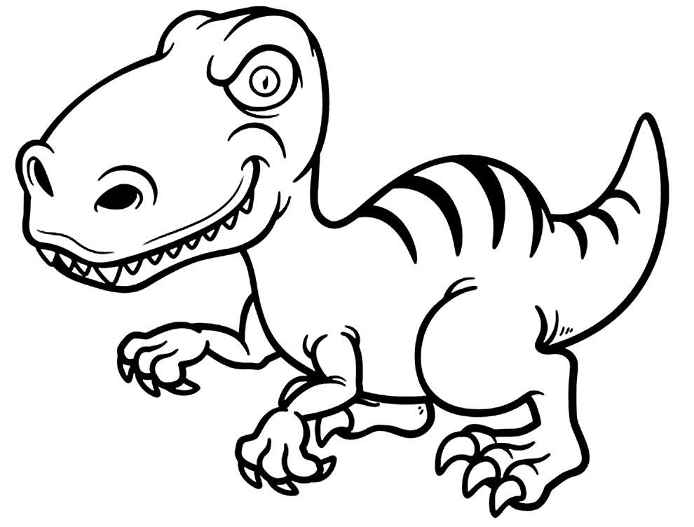 Desenho divertido para pintar de T-Rex