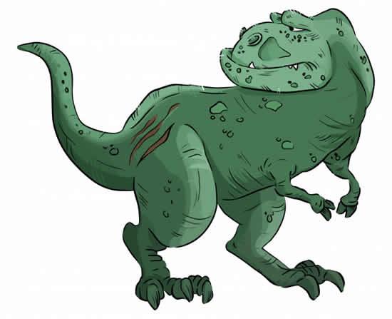 Molde de T-Rex