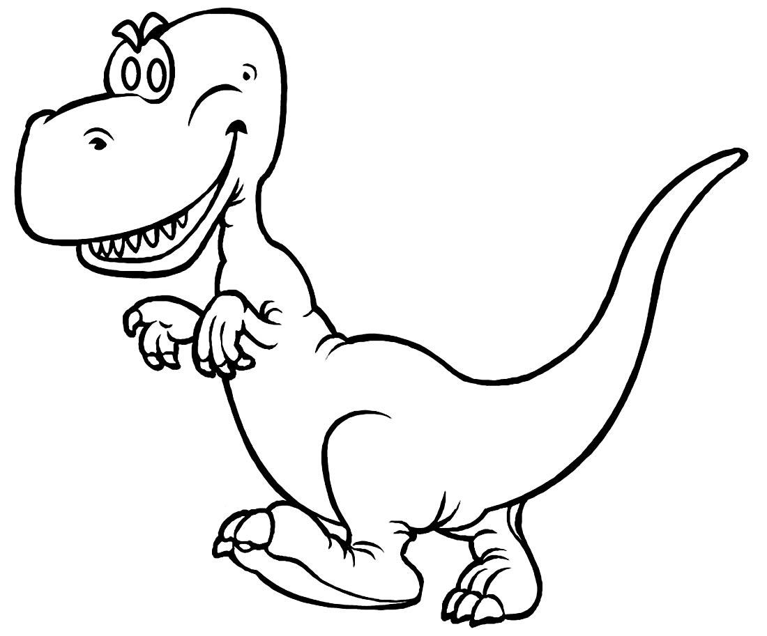 Desenho divertido para colorir de T-Rex