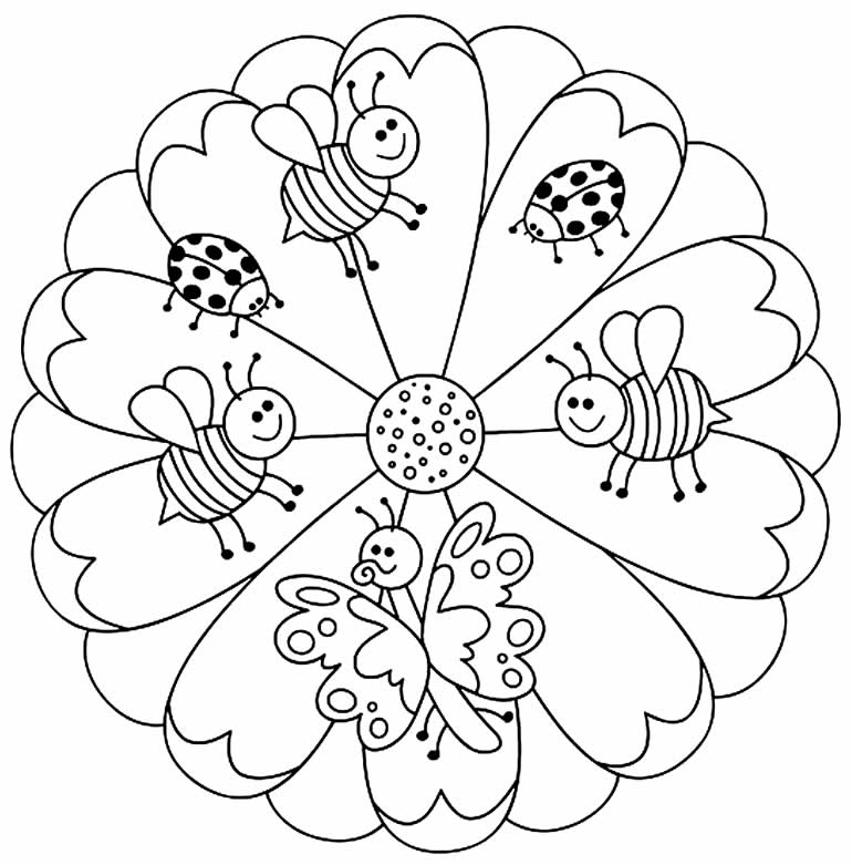 Imagem de Mandala infantil para colorir