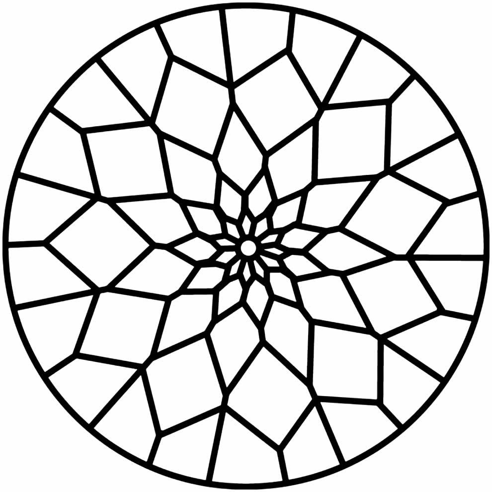 Desenho para colorir de Mandala