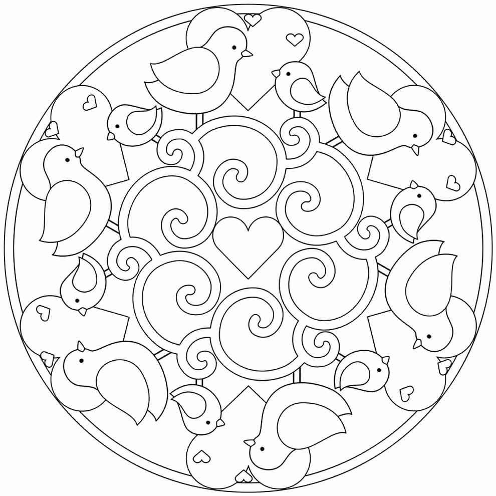 Desenho para pintar de Mandala