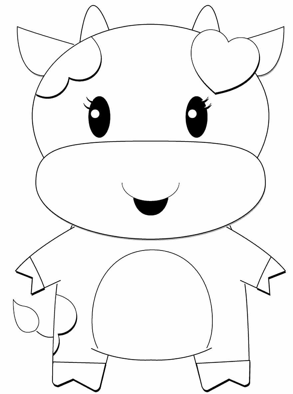 Desenho para colorir de Vaquinha