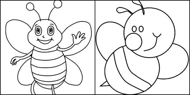Desenhos para colorir de abelhinha