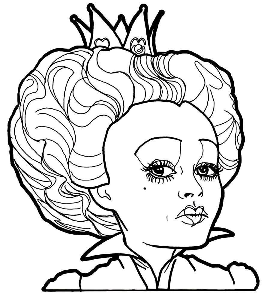 Desenho do filme Alice no País das Maravilhas para pintar