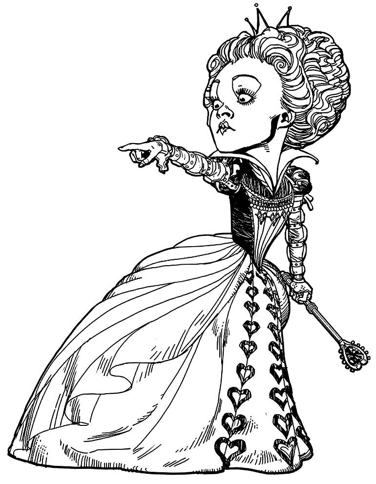 Imagem do filme Alice no País das Maravilhas para colorir