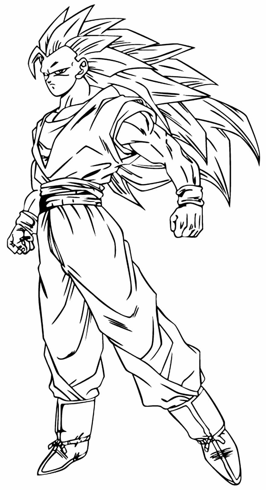 Desenho para colorir de Goku