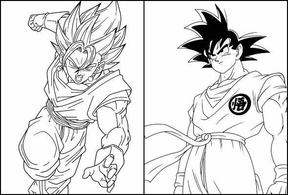 Desenhos lindos para colorir de Goku