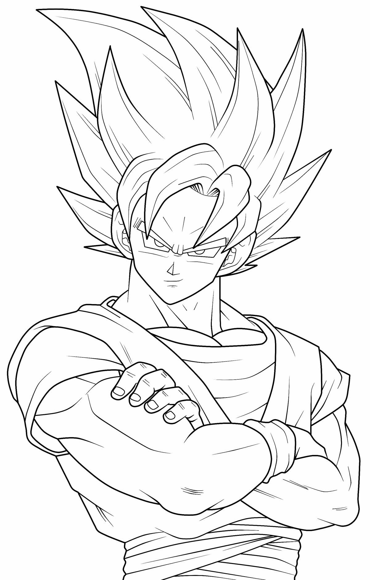 Imagem para colorir de Goku