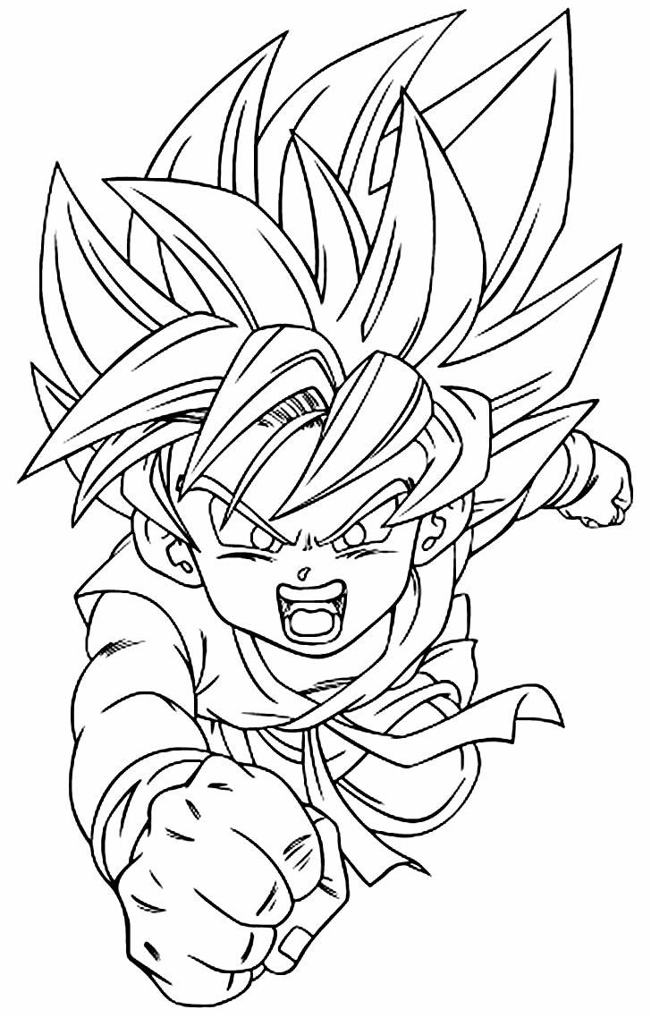 Imagem para pintar de Goku