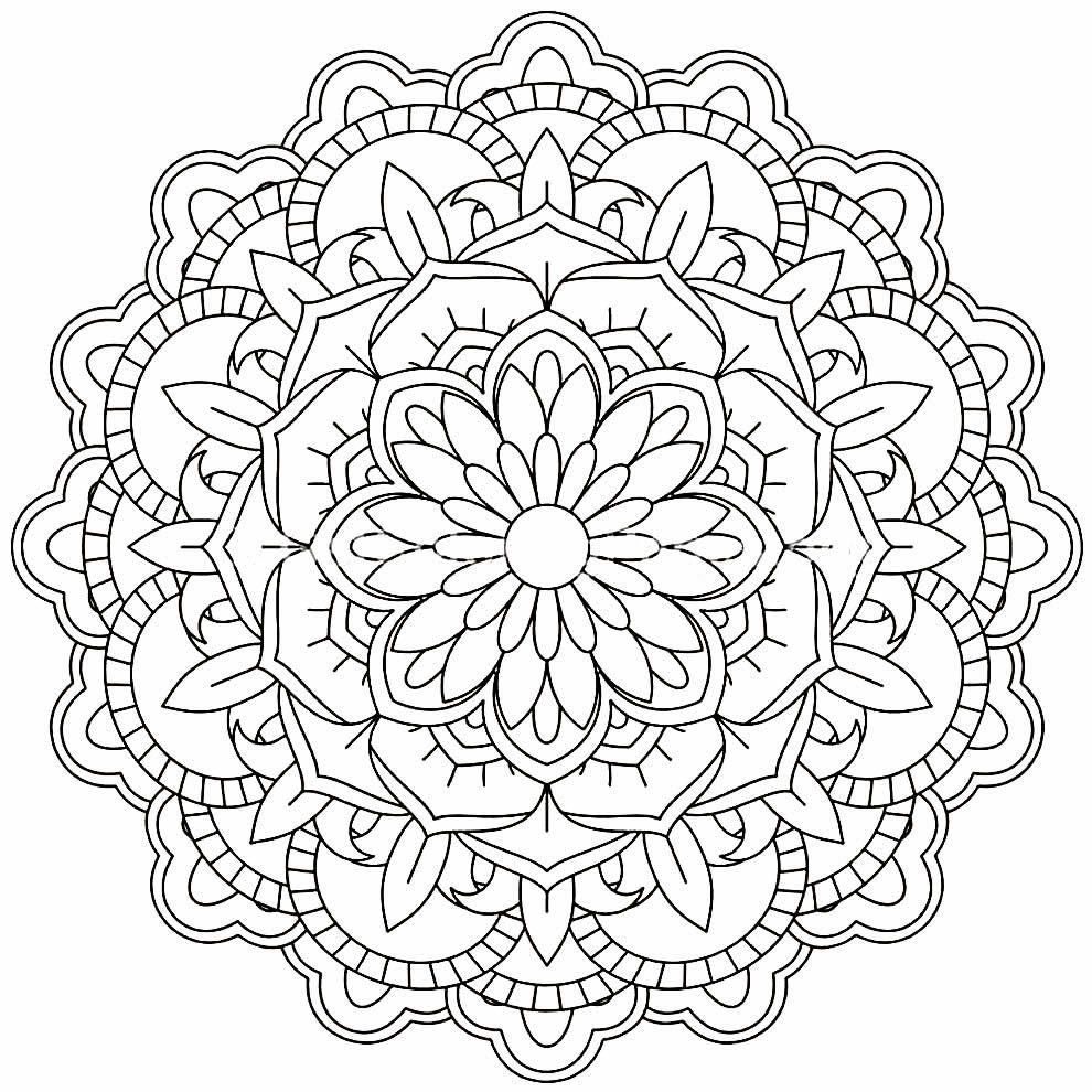 Molde de Mandala para imprimir