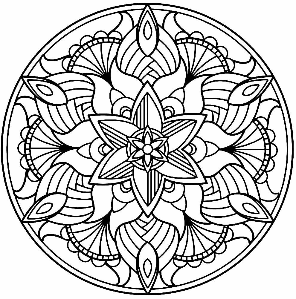 Desenho de Mandala para pintar