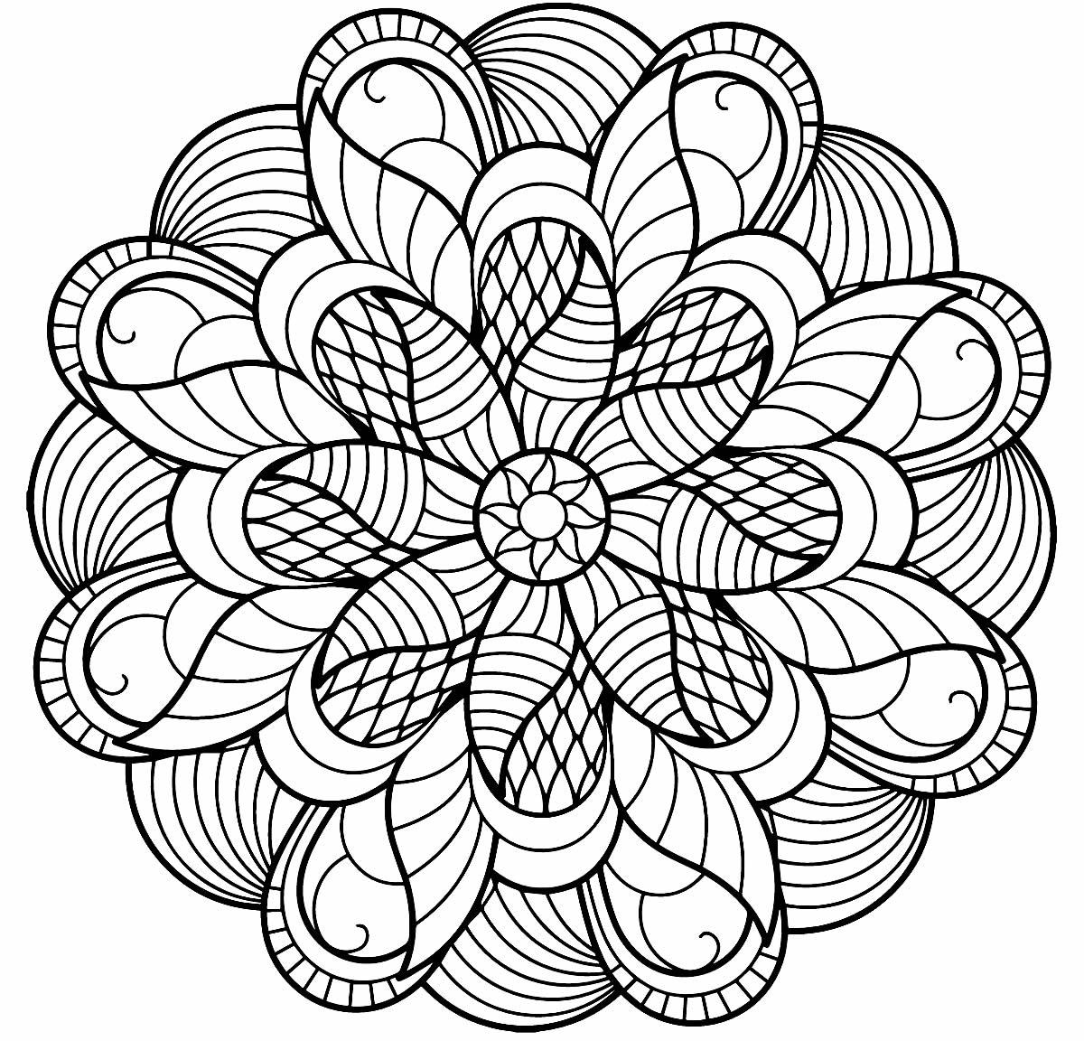 Mandala criativa para pintar