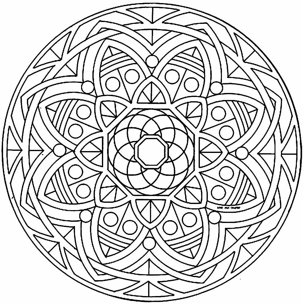 Desenho de Mandala para colorir