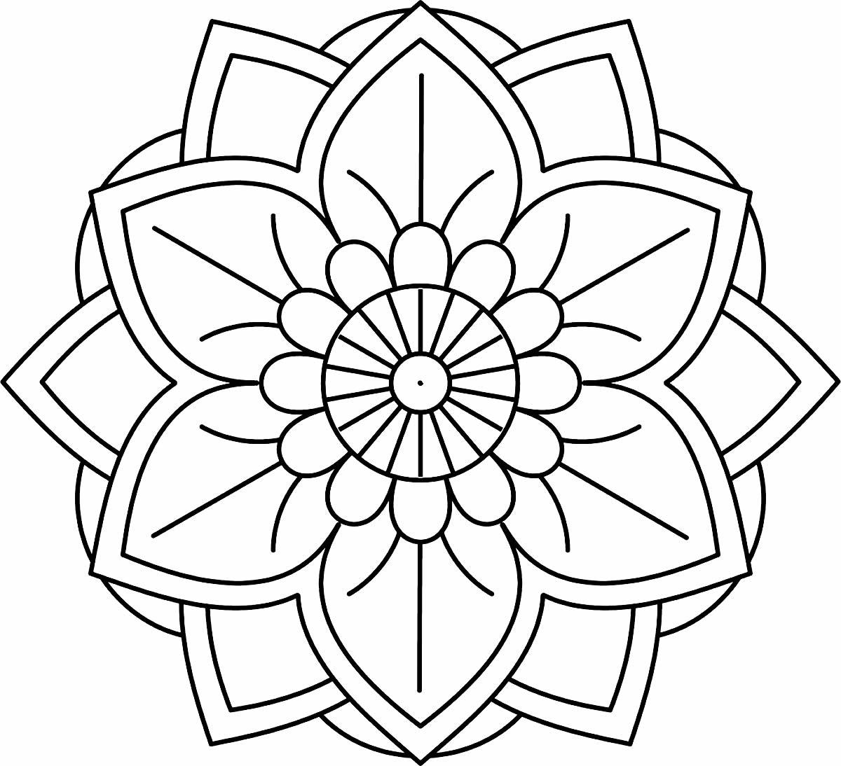 Mandala criativa para colorir