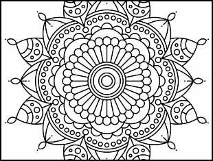 Desenhos de Mandala para imprimir e colorir