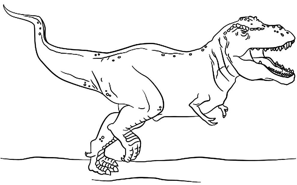Molde de T-Rex para imprimir