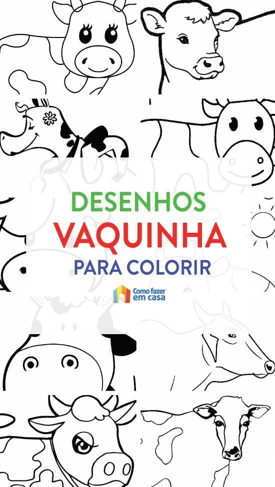 Desenhos para colorir de vaquinha